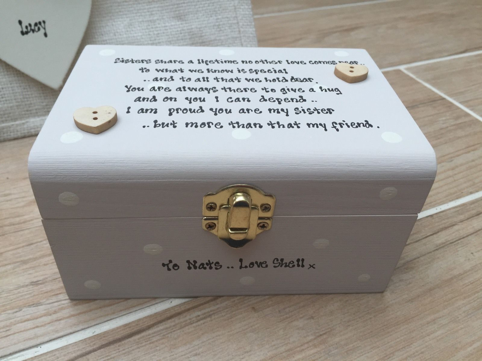 Very Shabby Personalised Chic Gift Set Special Best Sister Birthday HT18